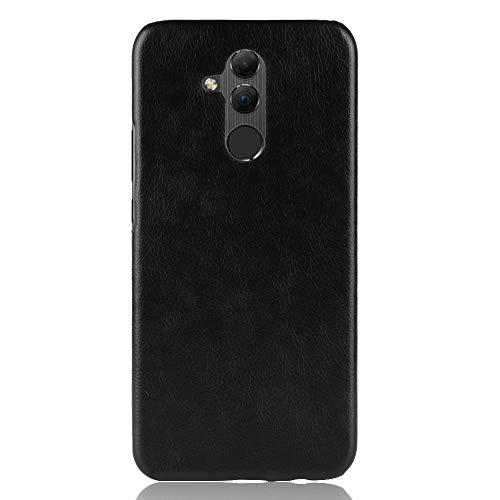 Capa traseira de couro sintético Zl one compatível com/substituição para Huawei Mate 20 Lite (Preta)