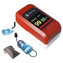 HEAL FORCE Pediatric Pulse Oximeter Fingertip Bluetooth OX Heart Rate Monitors SpO2 Levels Adjustable Alarm Adult…