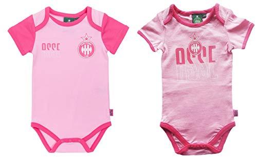 AS Saint Etienne Lot de 2 Bodies ASSE - Collection Officielle Taille bébé Fille 6m
