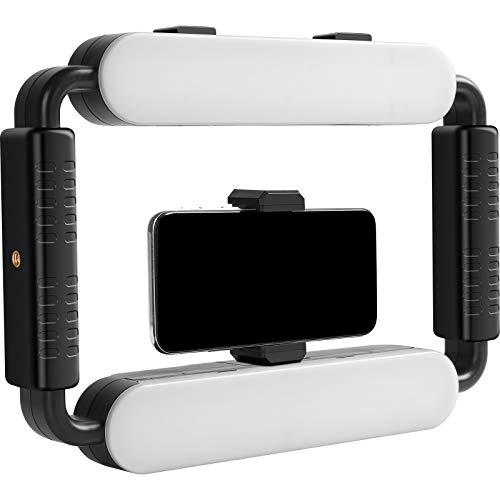 GVM LED Ring Light 5600K Selfie Light, Smartphone Video Rig & Phone Video Stabilizer for Camera,...