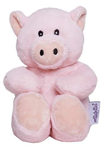 welliebellies Midi Wärmekuscheltier für Kinder - Wärmekissen gegen Schmerzen und zum Wohlfühlen - Wohltuender Kräuterduft durch Rosmarin und Lavendel, Eukalyptus & Pfefferminz - Schwein
