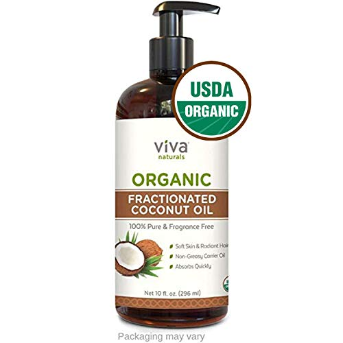 Organic Fractionated Coconut Oil  Amazing Massage Oil amp Aromatherapy Carrier Oil for Essential Oils  Face Moisturizer amp Body Oil Non Greasy 10 oz