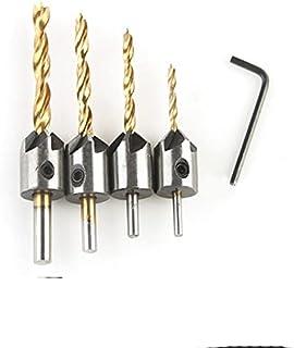 Gratis frakt 7 st 3 mm-10 mm 5 flöjt försänkt borrbit set snickeri brotsch träbearbetning avfasning ände fräs hål trä-3 4 ...