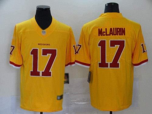 WNLBLB Fashion # 17 Fútbol Americano 2020 Nueva Camiseta de Rugby para Hombre Camiseta de Entrenamiento de Rugby para fanáticos Pretty Boy Football Rugby-Yellow_Large