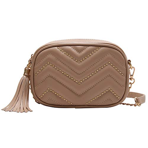 MHTJS Fashion Belt Bag, Ladies Waterproof Shoulder Bag Wallet, Adjustable Belt, Used for Outdoor Sports, Travel, Walking, can be Put in Wallets, Mobile Phones, Change Cards and Other Items (Gold)