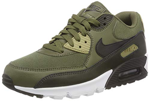 Nike Air Max 90 Essential, Scarpe da Ginnastica Basse Uomo, Multicolore (Medium Black/Sequoia/Neutral Olive 201), 43 EU