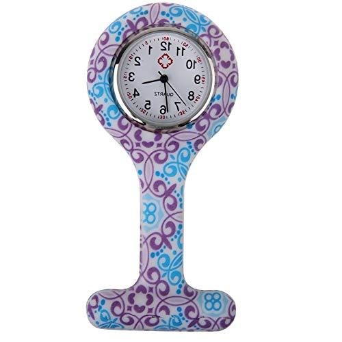 Boolavard® TM Orologio da infermiere in silicone con spilla - orologio tascabile wirbel