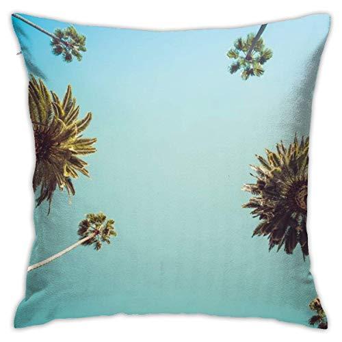 Funda de Almohada para sofá Coche Vintge Palm Trees