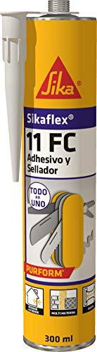 Sikaflex 659705 11 FC+, Adhesivo Multiusos y sellador de Juntas elástico, Beige, 300ml