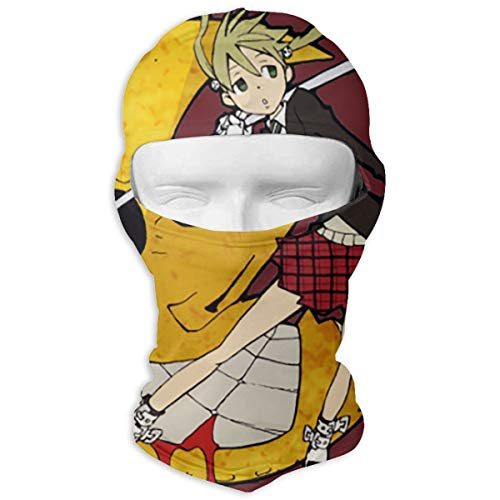 Xlhdxmp Soul Eater - Maka Albarn Balaclava Face Mask Helmet Liner Protection for Tactical Motorcycle Cycling Hunting Hiking , Protective Hat for Women Men