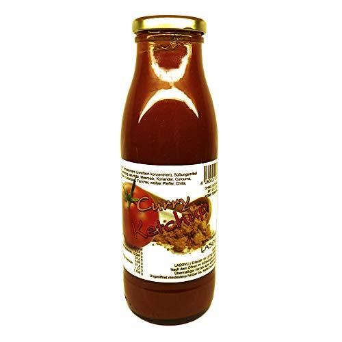 Curry-Ketchup aus der LASOVLI-Manufaktur mit finnischem Xylit gesüßt, 500 ml Flasche / Ohne Zuckerzusatz