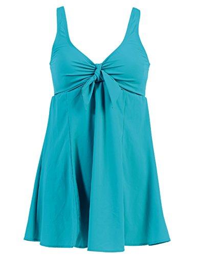 Marina West Skirted Maillot Missy Swimdress (1 Piece) (16 (XLarge), Turquoise)