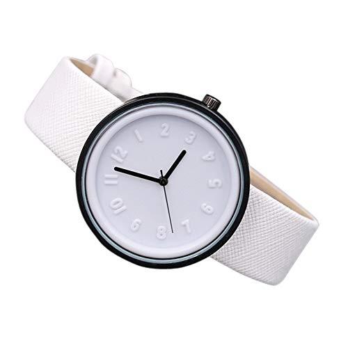 Menta Verde Relojes Simple Reloj Muyer Número Número Redondo Mujer Reloj Relojes de aleación analógica de Silicona Relogio Feminino para Regalo (Color : G)