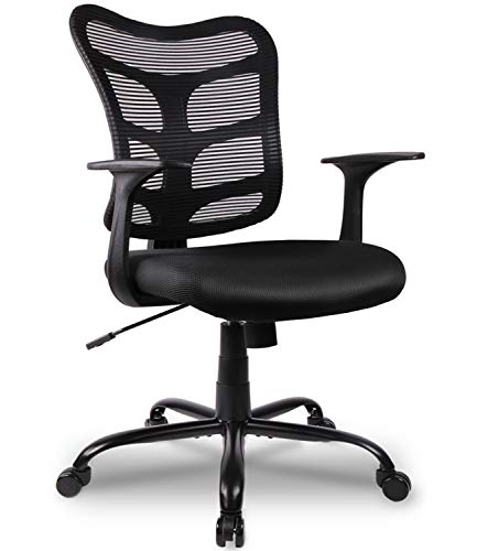 Office Chairs Ergonomic Mesh Chairs Mid Back Desk Task Chairs with Lumbar Support Black