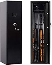 Rifle Safe Home Long Gun Safe for Rifles Shotguns, Greenvelly Locking Rifle Cabinet Gun Storage, Electronic 5 Gun Rifle Safes for Home Rifle and Pistols (w/Without Scope) with Lock Firearm Box