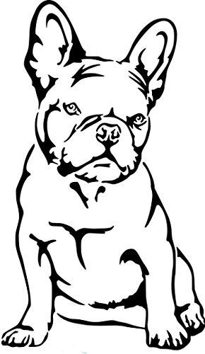Beschriftungsspezi Aufkleber Autoaufkleber Französische Bulldogge Nr.3 Mit Original Patentiertem Gucken Aufkleber Schwarz