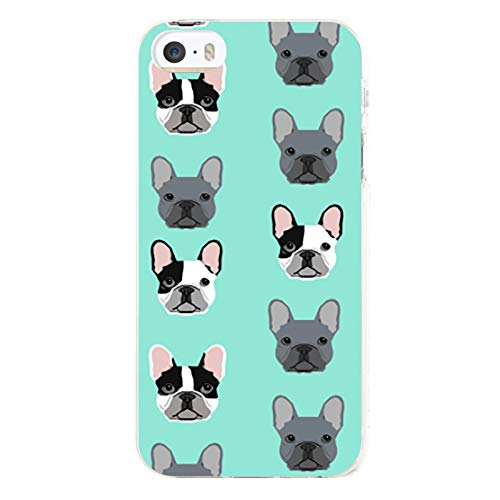 Frenchie Dog Case for iPhone 5/5s, 5/5s Protective Cover, Cellphone Case Cover Ultra-Thin Soft Microfiber