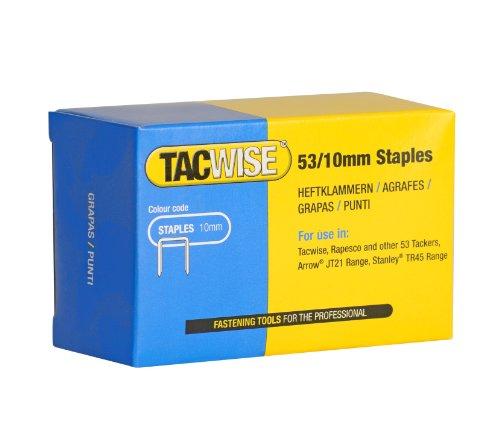 Tacwise 0431 Grapas Galvanizadas de Tipo 53/10 mm, 10mm, Caja de 5000 Unidades, Metalizado, Set Piezas