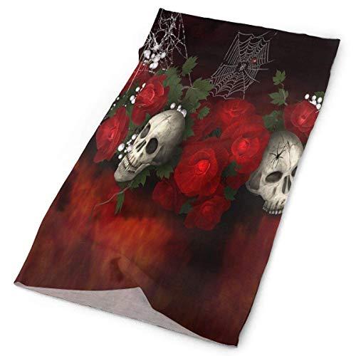 ONLED Diadema fabulosa gótica de calavera floral para exteriores, bufanda para el cuello, polaina para la cabeza, banda para el sudor