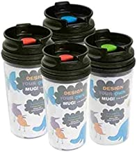 Greenbrier International 11 oz. Design Your Own Photo Travel Mugs Drink Cup Tumbler Hot Cold Pack of 4 (Flip Top Lid Color Chosen at Random)