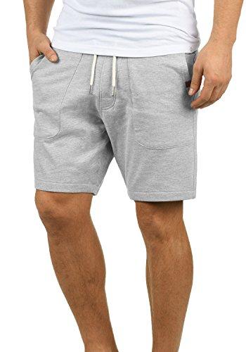 Blend Mulker Herren Sweatshorts Kurze Hose Jogginghose mit Kordel Regular Fit, Größe:XL, Farbe:Zink Mix (70815)