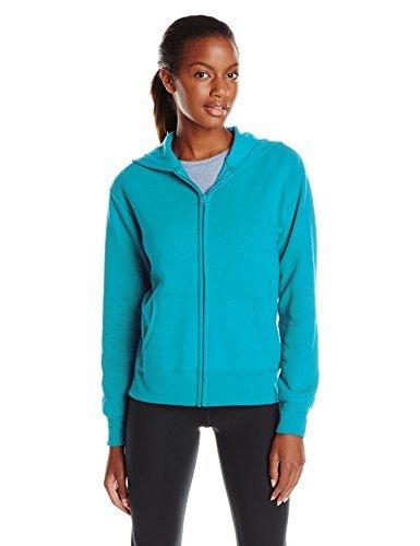 Hanes Women's EcoSmart Full-Zip Hoodie Sweatshirt, Dark Aquamarine, Small