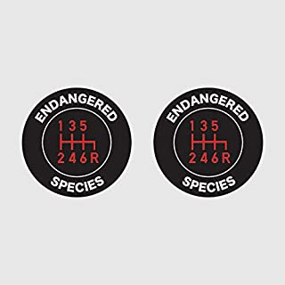 fagraphix Two Pack Stick Shift Endangered Species Sticker Self Adhesive Vinyl Decal Manual Transmission