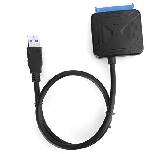 Shipenophy Adaptador USB3.0 a SATA3.0 Adaptador de Disco Duro Adaptador SSD Cable Adaptador de Disco Duro Plug and Play portátil Fácil de Usar Ligero para computadora portátil para computadora