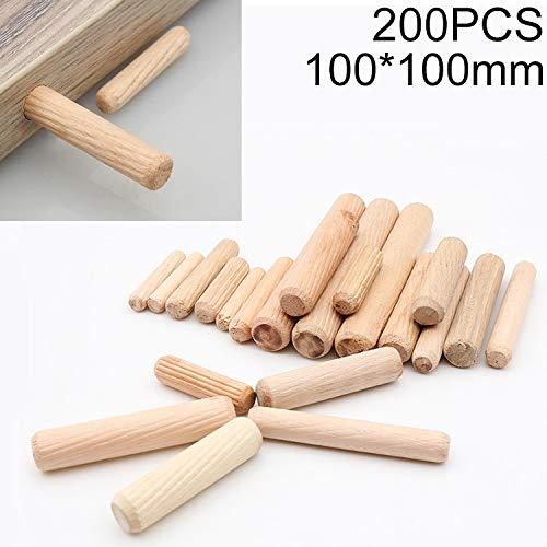 Holzdübe, 200 PCS Eukalyptus Runddübel Tie Anschluss- Stecker, Größe: 100x100mm, holzdübel set
