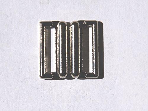 Bikinisluiting metaal 13 mm bikinisluiting bikini zilver wit zwart