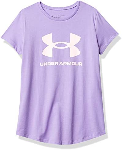 Under Armour Girls Live Sportstyle Graphic Short Sleeve T Shirt Planet Purple 576 Beta Tint product image