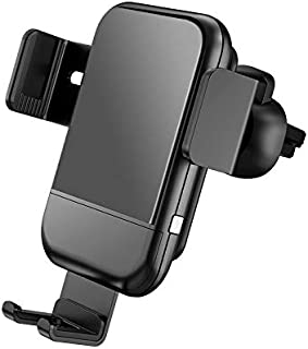 Qi Wireless Car Charger Mount,HMNXG Sensor Auto-Clamping 10W/7.5W Fast Charging, Adjustable Air Vent Phone Holder for Car ...