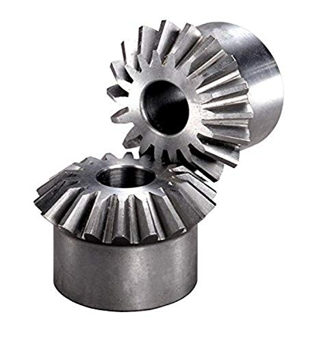 """Boston Gear L94Y Miter Gear, 1:1 Ratio, 20 Degree Pressure Angle, 0.125"""" Bore, 0.406"""" Mounting Distance, 48 Pitch, 18 Teeth, Steel"""