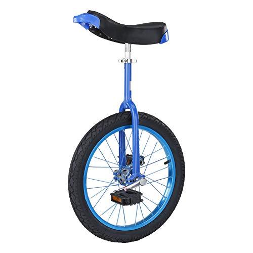 Einrad,Kinder Erwachsene Akrobatik LaufräDer Einrad Skidproof Verstellbar Konturierter Ergonomischer Sattel Geeignete HöHe 150-175 Cm / 20 Zoll/Blau