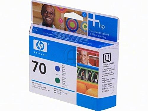 HP original - HP - Hewlett Packard DesignJet Z 3100 (70 / C 9408 A) - Druckkopf green blue - 130ml