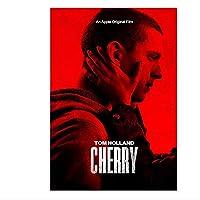 チェリー(2021)ポスターとプリント映画ポスターアート静止画装飾リビングルーム寝室キャンバス壁にプリント-60x90cmx1pcs-フレームなし
