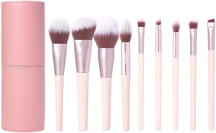 CJSWT High quality new Makeup Brushes Omaha Mall 9pcs Brush Foundati Holder with Set