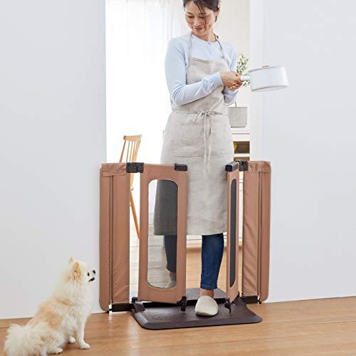 ペットゲート おくだけとおせんぼ ウォークスルーS 老犬にもやさしいソフトフェンス おくだけ 高さ76cm 幅7...