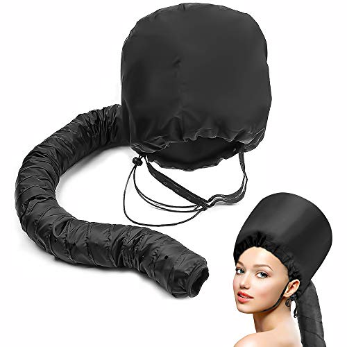 capot capot sèche-cheveux accessoire noir doux capot sèche-cheveux salon maison à capuchon sèche-cheveux pliable pour cheveux épais bouclés, droit