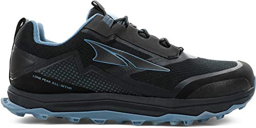 ALTRA Women's AL0A4VR9 Lone Peak All-WTHR Low Trail Running Shoe, Black/Blue - 8 M US