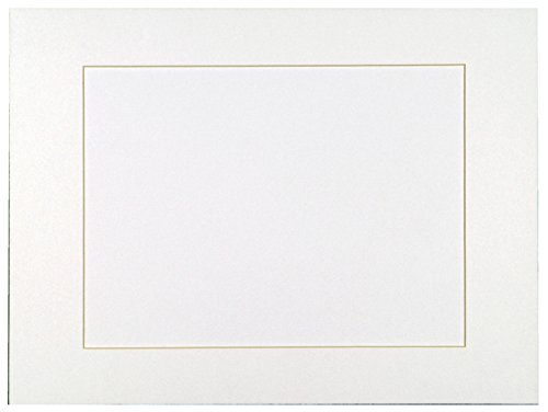 Sax Premium Precut Mats - 22 x 28 inches - Pack of 10 - Bright White