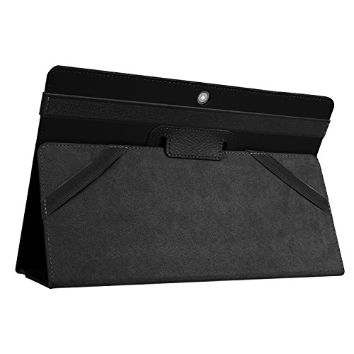 Kepuch Custer Hülle für Lenovo Miix 320,Smart PU-Leder Hüllen Schutzhülle Tasche Case Cover für Lenovo Miix 320 - Schwarz