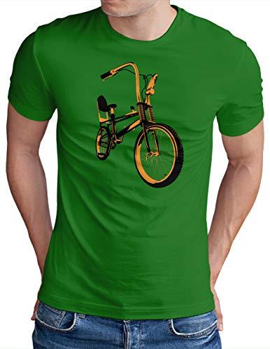 OM3® Bonanza Fahrrad T-Shirt   Herren   Retro Vintage Rad Bonanzarad II   Grün, L