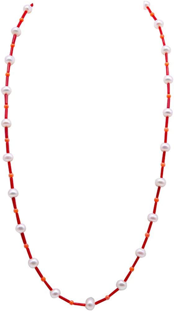 JYXJEWELRY Long Red Coral Neckla Necklace Challenge free the lowest price of Japan 2x8mm Sticks