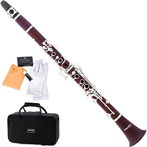 Mendini mct-30Intermedio B Soporte de clarinete de palisandro