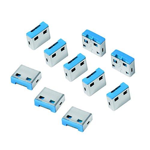 LogiLink AU0046 USB Port-Blocker Schloss (10x Schlösser) grau