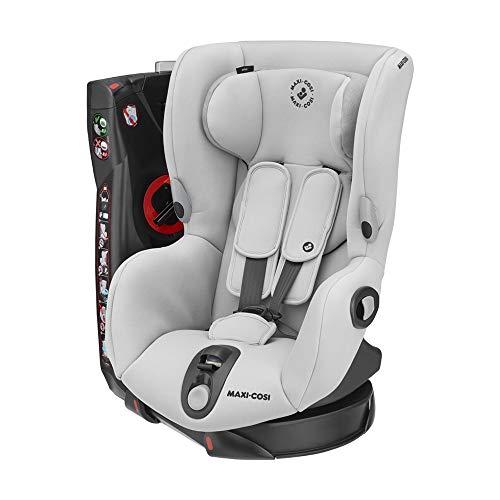 Maxi-Cosi Axiss Kindersitz, 180° drehbarer Kleinkind Gruppe 1 Autositz (ca. 9-18 kg) wächst mit dem Kind und inkl. 8 Sitzpositionen, nutzbar ab ca. 9 Monate bis ca. 4 Jahre, Authentic Grey, Grau