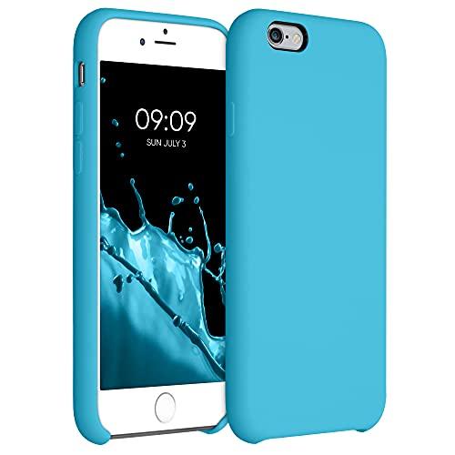kwmobile Funda Compatible con Apple iPhone 6 / 6S - Funda Carcasa de TPU para móvil - Cover Trasero en Azul Celeste