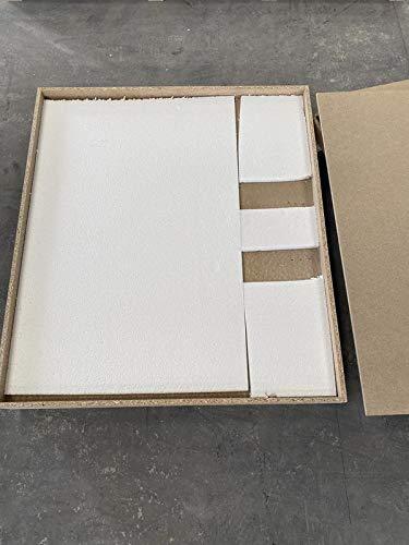 Plato de ducha de resina con carga mineral 85x100 cm Gris cementeo ...