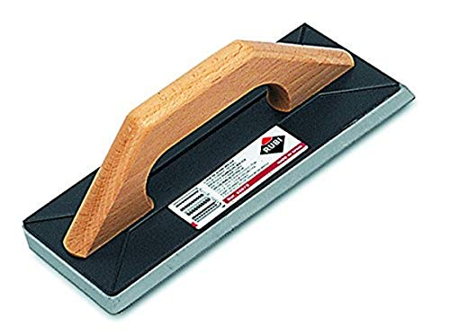 Rubi 65975 Llana de goma maciza para juntas con mango de madera, Negro